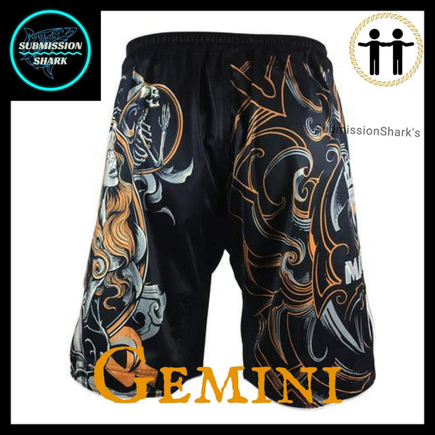 Gemini MMA Shorts | Submission Shark | Back