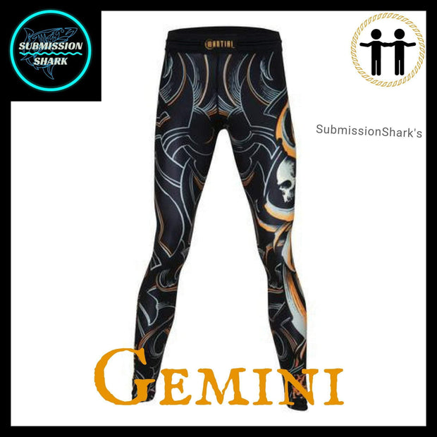 Gemini Compression Spats Front | Submission Shark's Fitness and MMA Appare