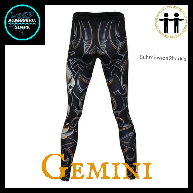 Gemini Compression Spats Back | Submission Shark's Fitness and MMA Apparel