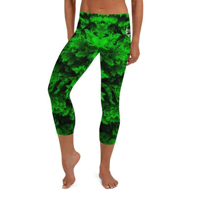 Green Lush No-Gi BJJ Capri Leggings