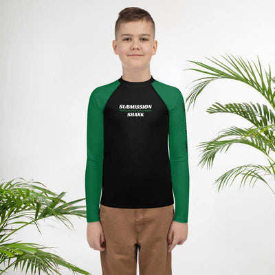 Green SS Premium Standard | Youth Rash Guard | Submission Shark - tamlifestyle