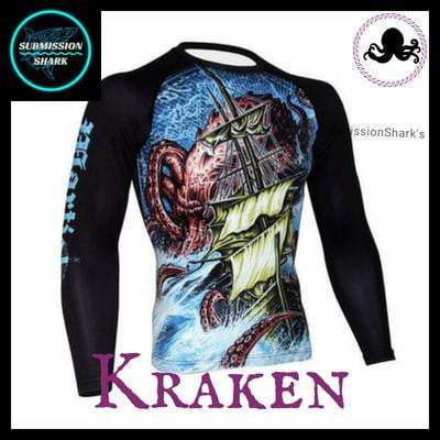 Killer Kraken Long Sleeve Rashguard | Submission Shark's Apparel | Front Right