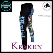 Killer Kraken Compression Spats | Submission Shark's Fitness and MMA Apparel | Left Back