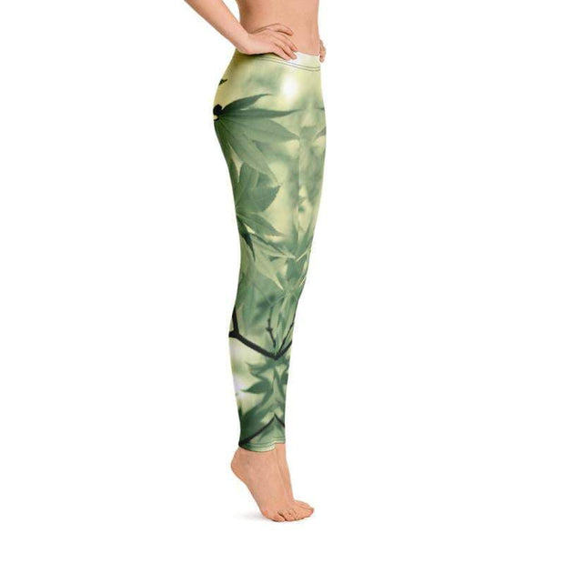 Legalize Leaf Leggings | Submission Shark High Roller BJJ