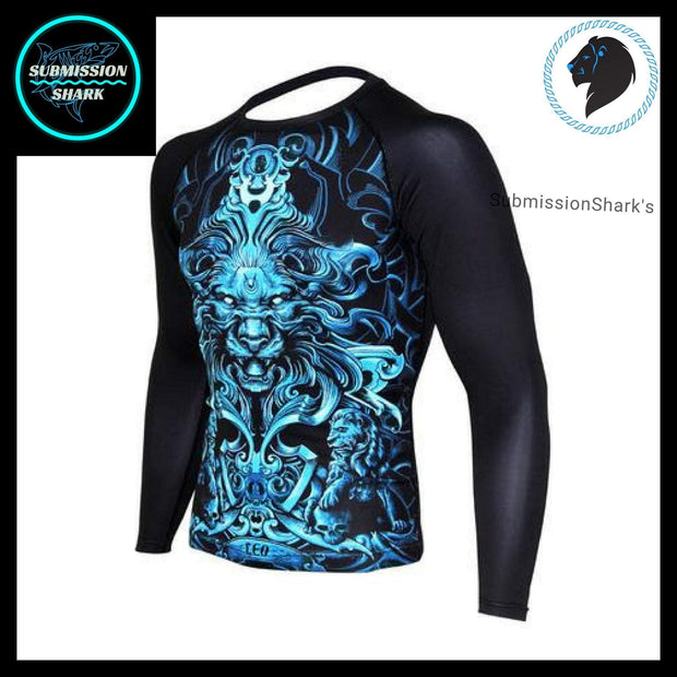 Leo Compression Shirt (Long Sleeve) | Submission Shark's Fitness and MMA Apparel | Front Left