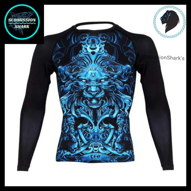 Leo Compression Shirt (Long Sleeve) | Submission Shark's Fitness and MMA Apparel | Front