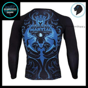 Leo Compression Shirt (Long Sleeve) | Submission Shark's Fitness and MMA Apparel | Back