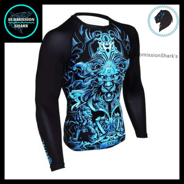 Leo Compression Shirt (Long Sleeve) | Submission Shark's Fitness and MMA Apparel | Front Right