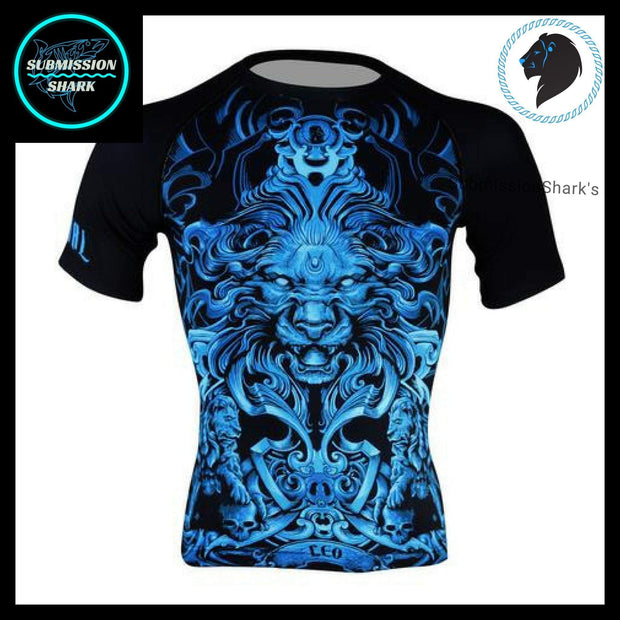 Leo Compression Shirt | Submission Shark's Fitness and MMA Apparel | Front