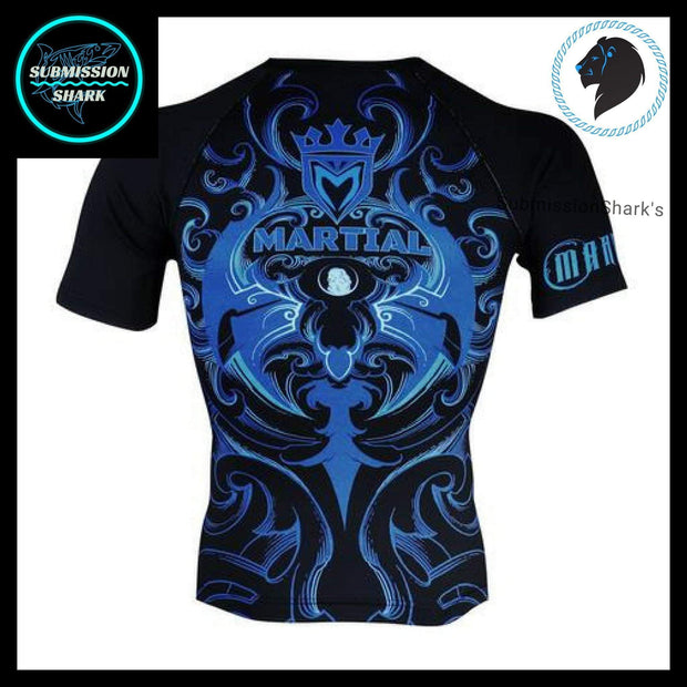Leo Compression Shirt | Submission Shark's Fitness and MMA Apparel | Back