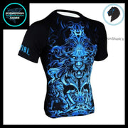 Leo Compression Shirt | Submission Shark's Fitness and MMA Apparel | Front Right side
