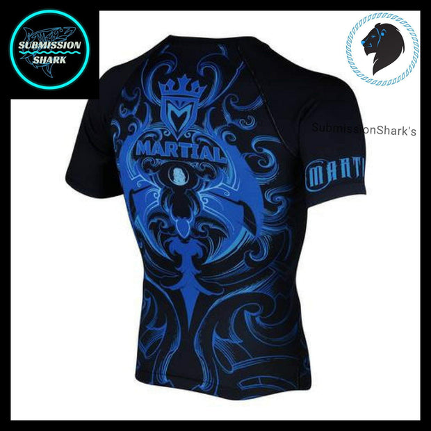 Leo Compression Shirt | Submission Shark's Fitness and MMA Apparel | Back Right