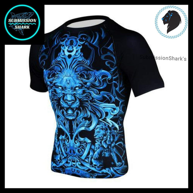 Leo Compression Shirt | Submission Shark's Fitness and MMA Apparel | Front left side