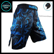 Leo MMA Fight Shorts | Submission Shark's Fitness and Nogi Jiu Jitsu Apparel | Front Right