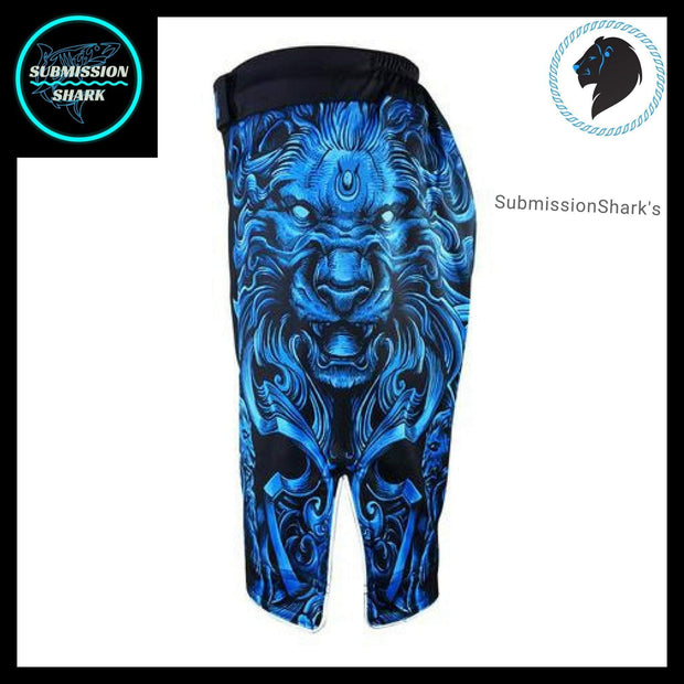 Leo MMA Fight Shorts | Submission Shark's Fitness and Nogi Jiu Jitsu Apparel | Left Side