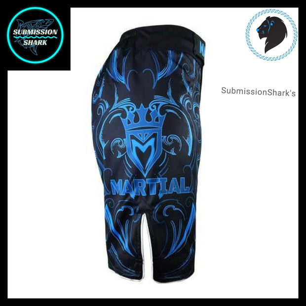 Leo MMA Fight Shorts | Submission Shark's Fitness and Nogi Jiu Jitsu Apparel | Right Side