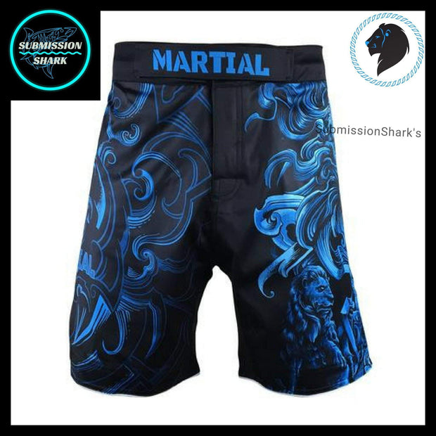 Leo MMA Fight Shorts | Submission Shark's Fitness and Nogi Jiu Jitsu Apparel | Front