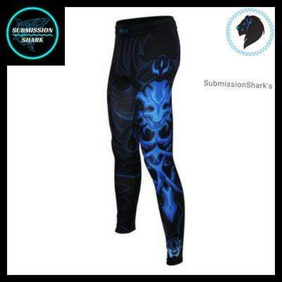 Leo Spats | Compression Pants | Submission Shark's Nogi Jiu Jitsu Apparel | Left Front