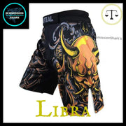 Libra MMA shorts | Submission Shark Front Left Side