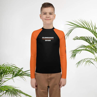 Orange SS Premium Standard | Youth Rash Guard | Submission Shark - tamlifestyle