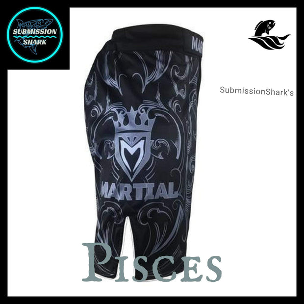 Pisces MMA Fight Shorts | Submission Shark | Right Side