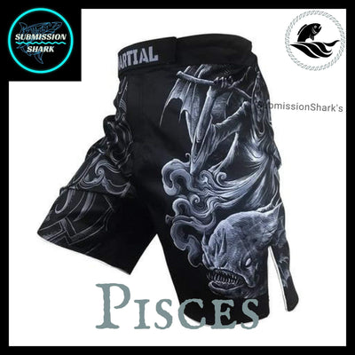 Pisces MMA Fight Shorts | Submission Shark | Front Left