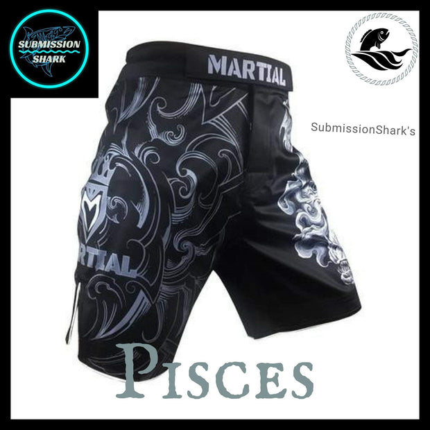 Pisces MMA Fight Shorts | Submission Shark | Front Right