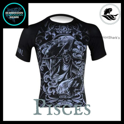 Pisces Compression Shirt | Submission Shark's Fitness and MMA Apparel | Front