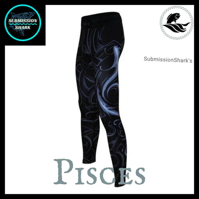 Pisces Compression Spats | Submission Shark's Fitness and MMA Apparel | Front Left