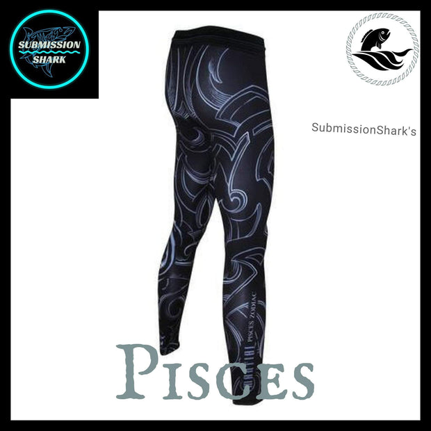 Pisces Compression Spats | Submission Shark's Fitness and MMA Apparel | Left Back