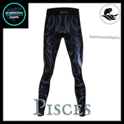 Pisces Compression Spats | Submission Shark's Fitness and MMA Apparel | Back