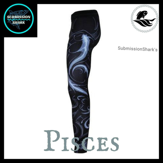 Pisces Compression Spats | Submission Shark's Fitness and MMA Apparel | Left Side