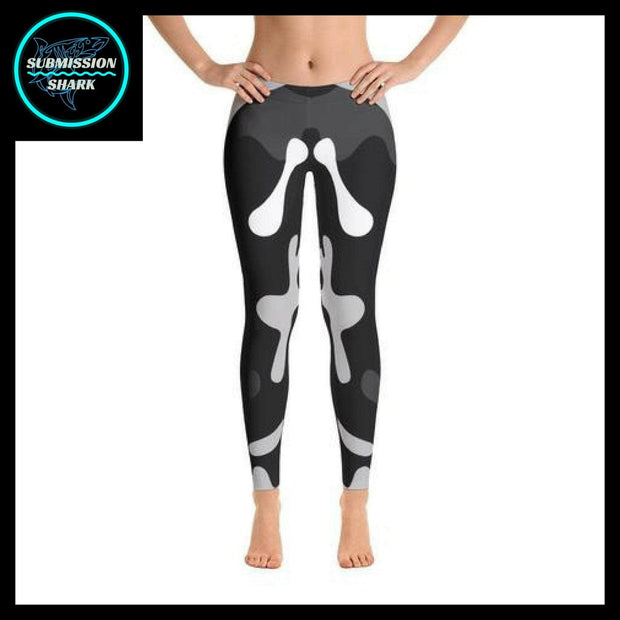 Ranked 1.0 Unisex Compression Pants (Black) | Submission Shark Spats Front