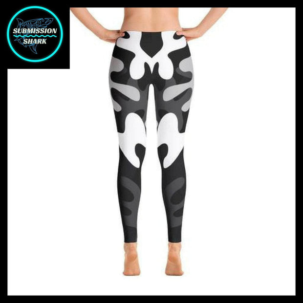 Ranked 1.0 Unisex Compression Pants (Black) | Submission Shark Spats Back