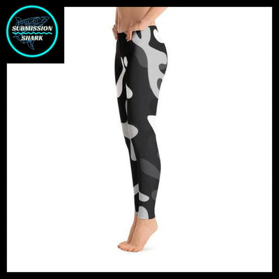 Ranked 1.0 Unisex Compression Pants (Black) | Submission Shark Spats Left