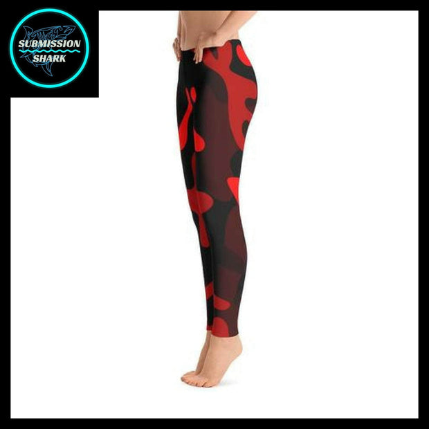 Ranked 1.0 Unisex Compression Pants (Coral Red) | Submission Shark Spats Left