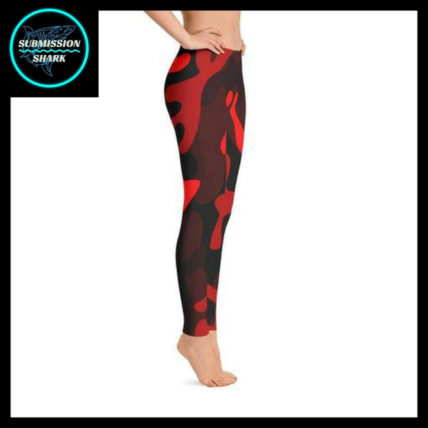 Ranked 1.0 Unisex Compression Pants (Coral Red) | Submission Shark Spats Right