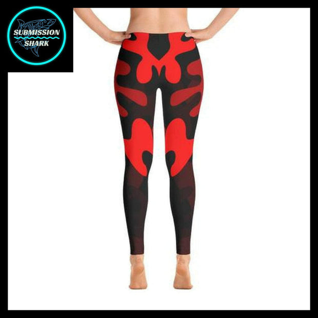 Ranked 1.0 Unisex Compression Pants (Coral Red) | Submission Shark Spats Back