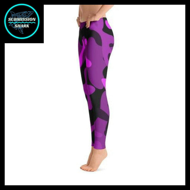 Ranked 1.0 Unisex Compression Pants (Purple) | Submission Shark Spats Left