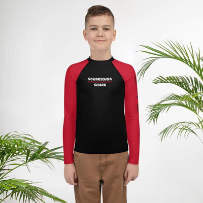Red SS Premium Standard | Youth Rash Guard | Submission Shark - tamlifestyle