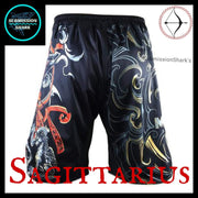 Sagittarius MMA Shorts | Submission Shark Back