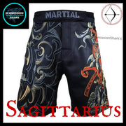 Sagittarius MMA Shorts | Submission Shark Front