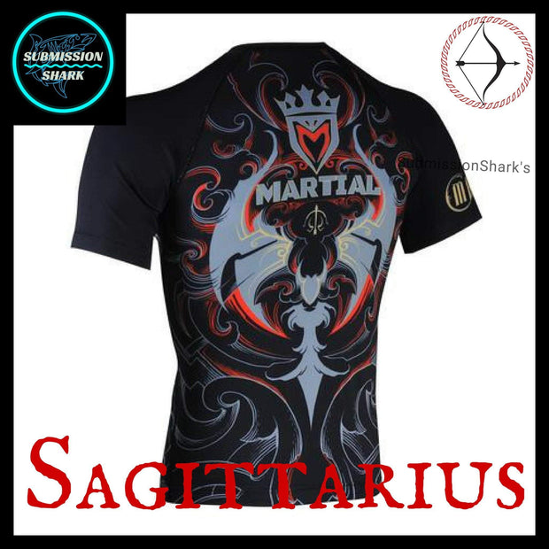 Sagittarius Rashguard | Submission Shark back Left