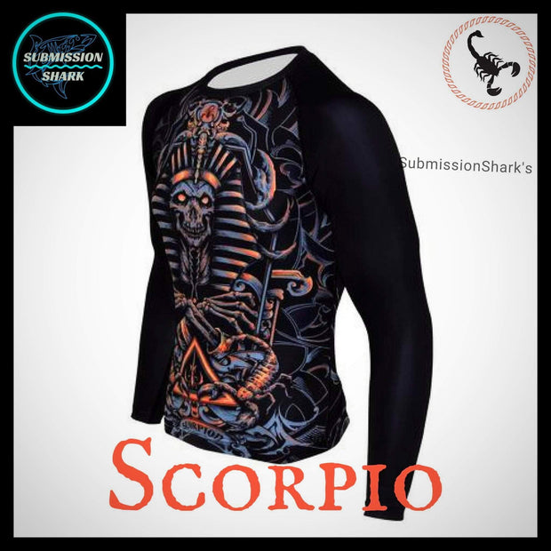 Scorpio Rashguard (Long Sleeve) | Submission Shark Left Front