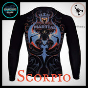 Scorpio Rashguard (Long Sleeve) | Submission Shark Back