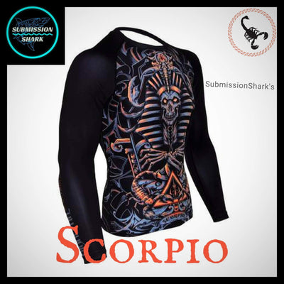 Scorpio Rashguard (Long Sleeve) | Submission Shark Front Right