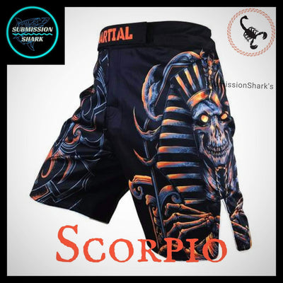 Scorpio MMA Fight Shorts | Submission Shark Left Front