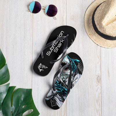 Shark Frenzy Flip-Flops | Submission Shark - tamlifestyle