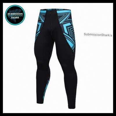 Submission Shark's Legendary Shark Frenzy Compression Spats | Limited Edition | Front Side