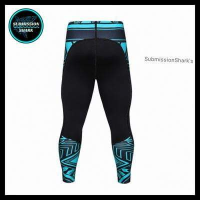 Submission Shark's Legendary Shark Frenzy Compression Spats | Limited Edition | Back